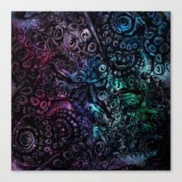 Octopus Galaxy Canvas Print