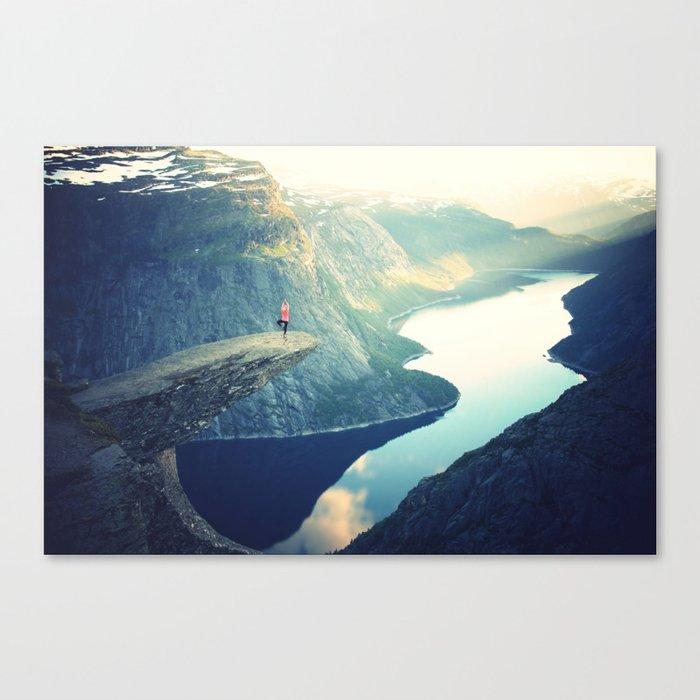 Trolltunga Landscape Scandinavian Norway Canvas Print