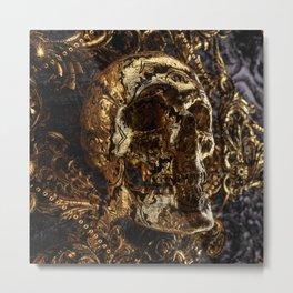 Go back to skull Metal Print