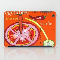 vegetables iPad Cases featuring Vegetables by Sartoris ART