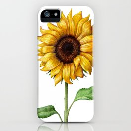 Yellow Sunflower Painting iPhone Case