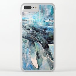Whale Art Clear iPhone Case