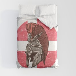 Denmark Danish Spartan  TShirt Warrior Shirt Flag Gift Idea Comforters