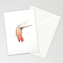 The Left, abstract hand art, NYC artist Stationery Cards