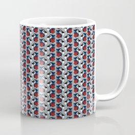 Blue Jays Pattern in Grey Coffee Mug