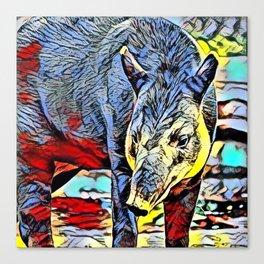 Color Kick - Tapir Canvas Print