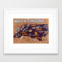 north carolina Framed Art Prints featuring NORTH CAROLINA by Christiane Engel