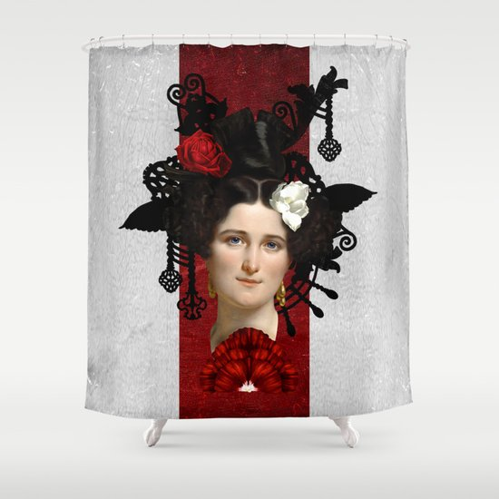 Elegant Attraction Shower Curtain By Diogo Verissimo