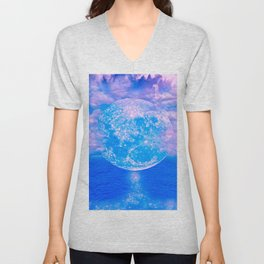 MOON BEAMS Unisex V-Neck