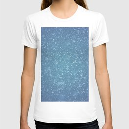 Hand painted blue white watercolor brushstrokes confetti T-shirt