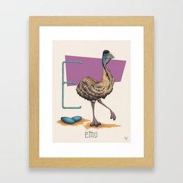 E is for Emu Framed Art Print