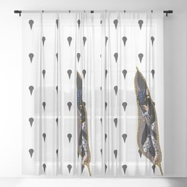 JoJo - Bruno Bucciarati Pattern [Zipper Ver.] Sheer Curtain