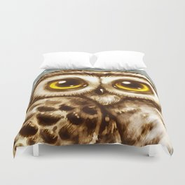 Owl Face Duvet Cover