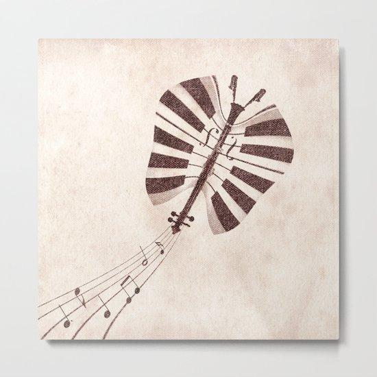 Butterfly Jazz Metal Print