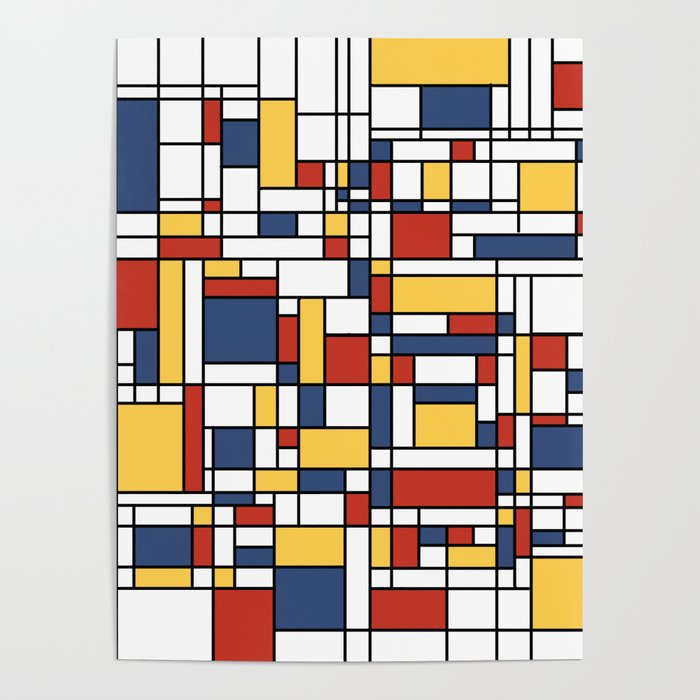 mondrian de stijl pattern poster by zennykenny society6