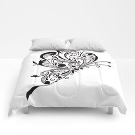Butterfly Tattoo Lineart Comforters