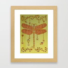 Dragonfly in Yellow Framed Art Print