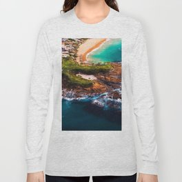 Sky view of a special beach Long Sleeve T-shirt