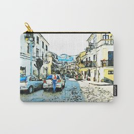 Street of Pizzo Calabro with car parked Carry-All Pouch