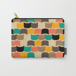 Retro abstract pattern Carry-All Pouch
