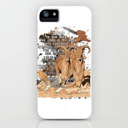 God is our Rock iPhone Case