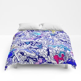 Kamasutra LOVE - Indigo Blue Comforters