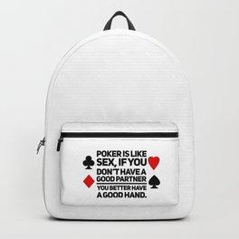Poker Game gift idea Backpack