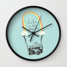 Life is like Photography Wall Clock