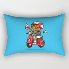 Italy! Pinocchio Eat Pizza and Ride Vespa Rectangular Pillow