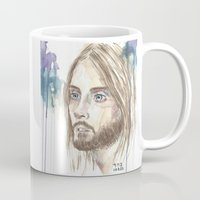jared leto Mugs featuring Leto by SirScm