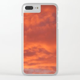 Fiery sunset on nature forest Clear iPhone Case