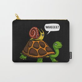 Snail Riding Turtle Animals Race Carry-All Pouch
