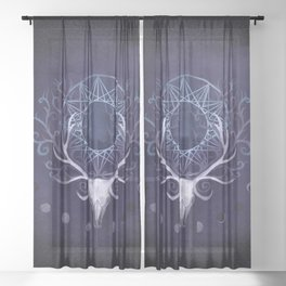 Season Of The Moon's Winter Fire Sheer Curtain