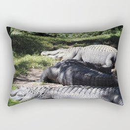 Lounging Gators Rectangular Pillow