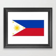 Philippines national flag Framed Art Print