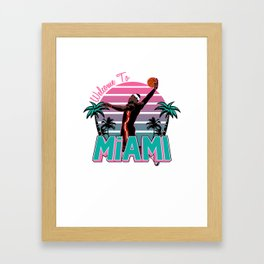 "The Victrs ""Welcome To Miami"" South Beach Framed Art Print"