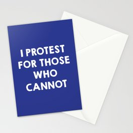 I protest for those who cannot - purple Stationery Cards