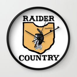 Raider Country Wall Clock