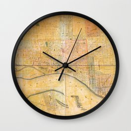 Map of the City of Memphis, Tennessee (1858) Wall Clock