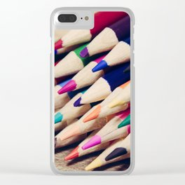Colorful Life 2 Clear iPhone Case
