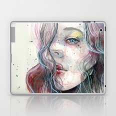 Sleepy violet, watercolor Laptop & iPad Skin