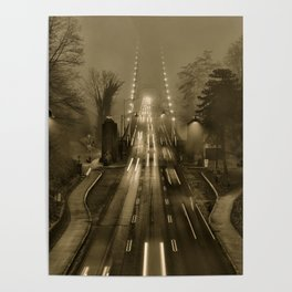 Lions Gate in the Fog 02 Poster