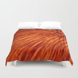 Burnt Orange Pixel Wind Duvet Cover