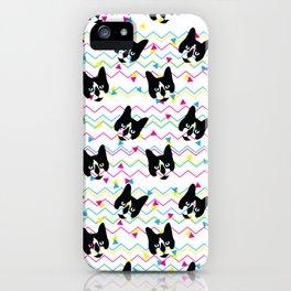 CMYK Cat Pattern iPhone Case