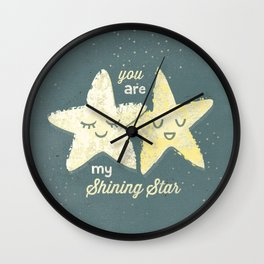 You are My Shining Star Wall Clock