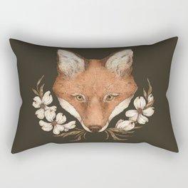 The Fox and Dogwoods Rectangular Pillow