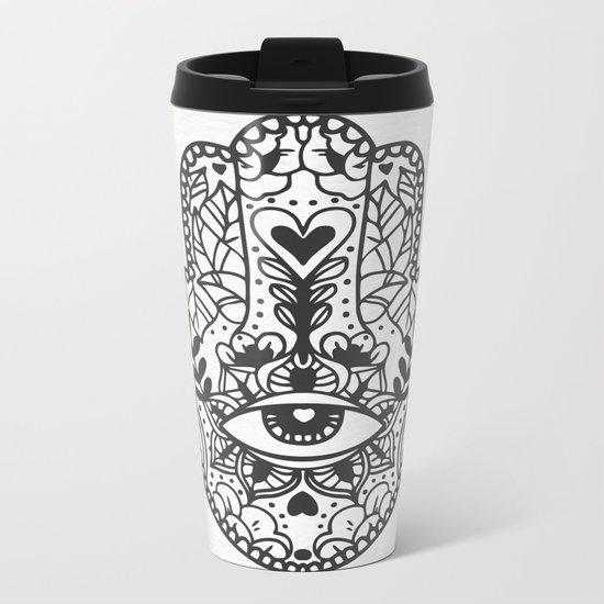 boho hand Metal Travel Mug