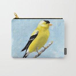 Goldfinch Acrylic Art, Yellow Bird Painting, Goldfinch Wall Art, Bird on a branch Carry-All Pouch