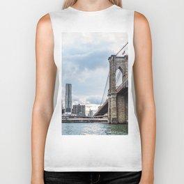 Brooklyn Bridge and Skyline of New York Biker Tank