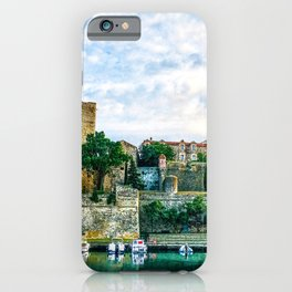 Castle | Boats at a Port South of France Collioure Incredible Medieval Scenic Views iPhone Case